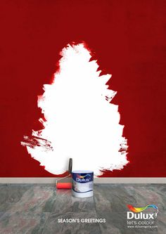 Print Advertising : Dulux: Season's Greetings Print Advertising Campaign Inspiration Dulux: Season's Greetings Advertisement Description Dulux: Season's Greetings Don't forget to share the post, Sharing is love ! Clever Advertising, Print Advertising, Print Ads, Marketing And Advertising, Advertising Campaign, Christmas Adverts, Christmas Poster, Christmas Tree, Christmas Print