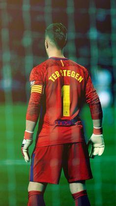 Ter Stegen number one 1 Barcelona Players, Lionel Messi Barcelona, Barcelona Team, Barcelona Football, Messi Team, Cr7 Messi, Germany National Football Team, Soccer Poster, Poster S