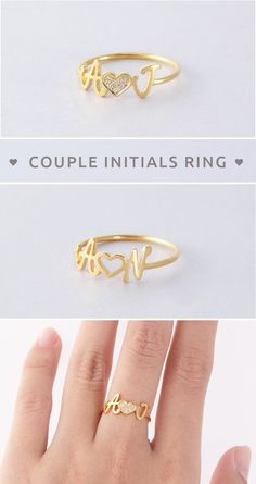 28 ideas birthday gifts for girlfriend je. 28 ideas birthday gifts for girlfriend jewelry friends for Bracelet Initial, Initial Jewelry, Initial Rings, Engagement Gifts For Couples, Anniversary Gifts For Couples, Engagement Rings Couple, Engagement Rings Princess, Solitaire Engagement, Custom Jewelry