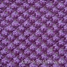 Boucle Lace Pattern, knitting pattern chart, Eyelet and Lace Stitch Patterns