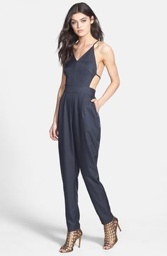 Sexy  While most jumpsuits keep you pretty covered up, the Dirty Ballerina Open Back Jumpsuit ($48.00) is a little more daring. Wit a completely open back, this particular suit probably works best if you do have a more petite build, since the strappy back and smaller front won't accommodate those with a fuller bust. The sleek navy hue is also a great alternative to black, and to continue the long, lean lines the suit gives, we recommend sliding into your highest heels and upping the sex…