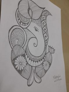 Girly Drawings, Art Drawings Sketches Simple, Pencil Art Drawings, Sketch Art, Doodle Art Drawing, Mandala Drawing, Mehndi Designs Book, Mandala Art Lesson, Doodle Art Designs