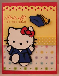 Graduation Card - Hello Kitty Greeting