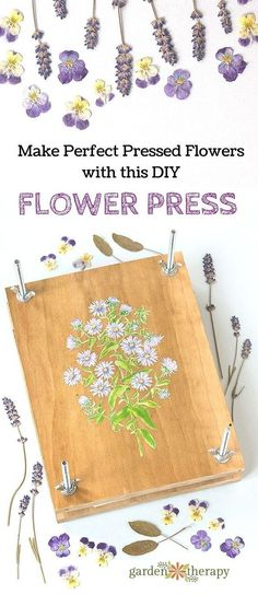 How to Make a DIY flower press at home. This press makes flowers perfectly flat and helps retain the color best!
