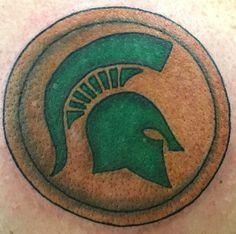 Michigan State Spartan Shield Tattoo