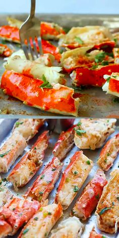 Baked King Crab - King crab is everyone's favorite crustacean and this king crab recipe is baked with Sriracha lemon butter. The crab legs are so juicy, sweet, and perfect for the holidays and special occasions!