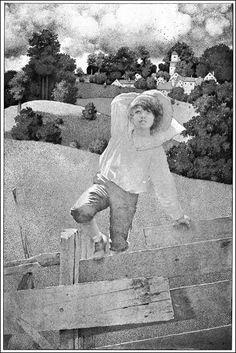 """Maxfield Parrish (1870-1966), Illustration pour """"The Golden Age"""" par Kenneth Grahame ~ 1900"""