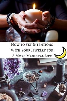 How to enchant your jewelry and set intentions for more every day magick. Wiccan Witch, Wicca Witchcraft, Magick, Witchcraft Spells For Beginners, Magic Spells, Spiritual Beliefs, Spirituality, Which Witch, Baby Witch