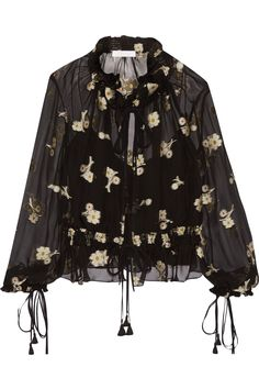 CHLOÉ EMBROIDERED SILK-CHIFFON BLOUSE $1,198 http://www.theoutnet.com/product/845262