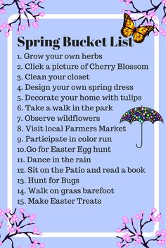 15 things to do in the spring