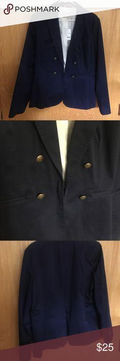Banana Republic Navy Blazer Double breasted illusion navy blazer. Never worn with tags still attached. Banana Republic Jackets & Coats Blazers