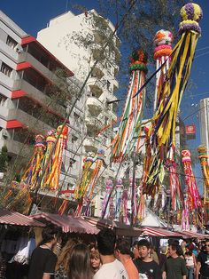 Tanabata Festival - São Paulo. The festival is usually held on July 7, and celebrates the meeting of Orihime (Vega) and Hikoboshi (Altair).