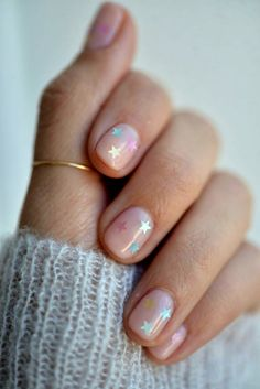 How to Do the Prettiest (Yet Subtle!) Nail Art at Home How to Do the Prettiest (Yet Subtle!) Nail Art at Home,Nageldesign – Nail Art – Nagellack – Nail Polish – Nailart – Nails. Short Nail Designs, Nail Art Designs, Nails Design, Clear Nails With Design, Gel Manicure Designs, Clear Nail Designs, Salon Design, How To Do Nails, Fun Nails