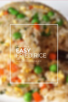The best & healthy recipes of Easy Delicious Fried Rice Fried Rice Recipe Indian, Bacon Fried Rice Recipe, Chicken Fried Rice Recipe Easy, Chicken Rice Recipes, Brown Rice Recipes, Easy Rice Recipes, Rice Breakfast Recipes, Vegetarian Rice Recipes, Asian Dinner Recipes