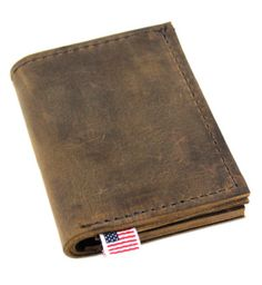 Thick Roughman NewYorker Distressed Tan Full Grain Leather Wallet