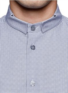 GIVENCHY - Micro-check officer collar cotton shirt | Dress Shirts Shirts | Menswear | Lane Crawford