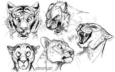 Assorted Cat Flavors by teagangavet on DeviantArt Animal Sketches, Animal Drawings, Cool Drawings, Art Sketches, Big Cats Art, Furry Art, Cat Sketch, Poses References, Wow Art