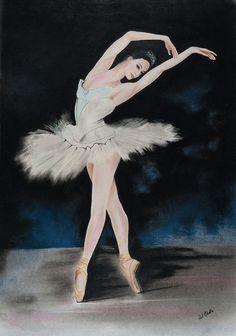 Ballerina Pastel - Dancing Ballerina by Paul Cubeta Ballerina Wallpaper, Ballerina Painting, Ballerina Art, Ballet Art, Ballerina Illustration, Ballet Drawings, Ballerina Silhouette, Dance Paintings, Silhouette Painting