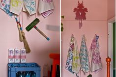 Our abigail*ryan tea-towels in the lovely Kristina Klarin's home :)