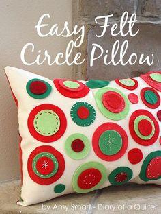 Felt Circle Pillow Knock-off Tutorial