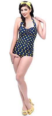 40ba1ee3d429 One Piece Vintage Swimsuits - Shop Cute Retro One Piece Bathing Suits.  Vintage Bathing SuitsVintage SwimsuitsUnique ...
