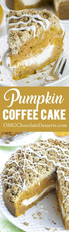 The Best Pumpkin Coffee Cake - absolutely irresistible pumpkin cake! This pumpkin coffee cake is the perfect Fall breakfast treat!