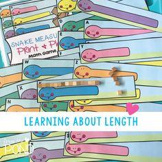 Measurement Activities in Kindergarten Length - Printable Centers