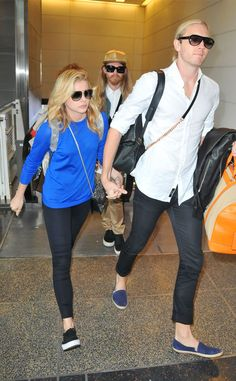 Chloe Grace Moretz & Trevor Moretz  The actress and her big bro make their way through the airport in Washington, D.C.