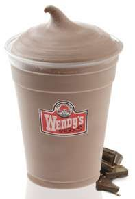 Wendy's Frosty Recipe    ■1 cup 2% milk  ■2 tablespoons instant chocolate pudding mix  ■1 teaspoon vanilla  ■2 tablespoons cool whip  ■8 ice cubes  Place everything in a blender and blend 3-4 minutes. Place in a glass. I put mine in the freezer for 4-5 minutes.