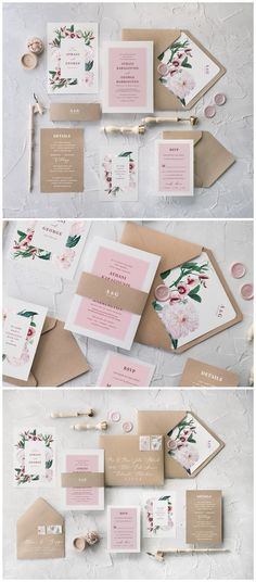 Floral Calligraphy Wedding Invitations 06BBNz #weddings #weddingideas #invitations #vintage #vintageweddings ❤️ http://www.deerpearlflowers.com/botanical-wedding-inviations-from-4lovepolkadots/