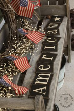 Primitive+Summer+banner+AMERICA+1776+BANNER+by+thecracklingcrows,+$30.00
