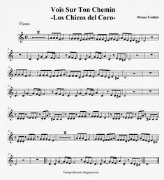 Ana Music: Partitura Los Chicos del Coro - Vois Sur Ton Chemin #loschicosdelcoro #partituraflautadulce