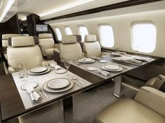 Most Luxurious Private Jets in the World Luxury Jets, Luxury Private Jets, Private Plane, Luxury Yachts, Gulfstream G650, Executive Jet, Airplane Interior, Private Jet Interior, Aircraft Interiors