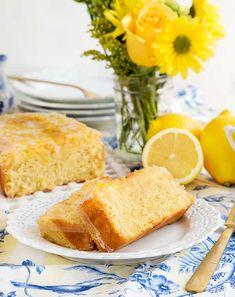 A gluten free lemon pound cake recipe - a great way to brighten any table!