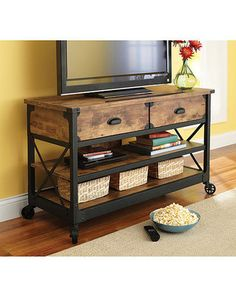 Better Homes and Gardens Rustic Country TV Stand with Optional Accent Pieces from Walmart | BHG.com Shop