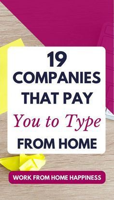 Looking For A Way To #workfromhome With No Experience? Consider A Career As  A Home Based Typist! These 19 Companies Offer #workfromhomejobs For  Beginning ...