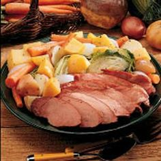 Sunday Boiled Dinner Recipe -<B>Meet the Cook:</B> Generally, I… Ham And Cabbage, Cabbage Recipes, Pork Recipes, Crockpot Recipes, Cooking Recipes, Smoker Recipes, Irish Recipes, Cooking Tips, Smoked Pork Shoulder