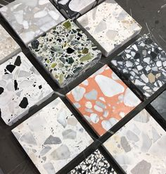 When all you can think of is TERRAZZO 🖤🖤 #terrazzotiles . . #tileperfection #beautifultiles #bathroombliss #renovating #tiles2019… Stone Tile Flooring, Terrazzo Tile, Marble Tiles, Stone Tiles, Kitchen Redo, Kitchen Design, Container Office, Terrazo, All You Can