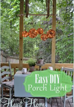 easy diy outdoor light, lighting, outdoor living, I added a bit of fun to my screen porch with an easy outdoor porch light