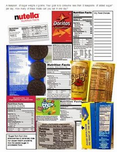 """To earn the Staying Fit badge girls must learn how to feed their fit bodies. Here's a printable to help become """"label detectives"""" and more savvy about sugar. Have the girls choose which snacks and drinks they'd like to eat in a day, add up the sugar grams, divide by four and hope it comes out less than the eight grams or less recommended for girls their age. My guess is they'll have to repeat the process a few times and none of them is going to get to drink that root beer."""