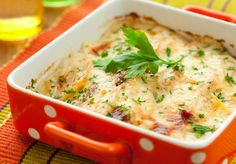 potato and kohlrabi gratin with cheese Twice Baked Potatoes Casserole, Cabbage Casserole, Veggie Casserole, Chicken Casserole, Casserole Recipes, Cheese Dip Recipes, Beef Gravy, Cabbage And Bacon, Potluck Dishes