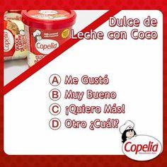 ¿Ya probaste nuestro nuevo producto: Dulce de leche con coco #Copelia? ¡Califícalo!
