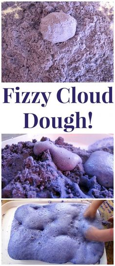 Dough Experiment (Taste Safe) Make Fizzy Cloud Dough! Once the kids are done with the sensory aspect move on to the science of fizziness! from Make Fizzy Cloud Dough! Once the kids are done with the sensory aspect move on to the science of fizziness! Toddler Fun, Preschool Activities, Summer Activities, Preschool Science Activities, End Of Year Activities, Indoor Activities, Toddler Preschool, E Mc2, Science For Kids