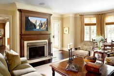 Javore Architects Fireplace Family Room