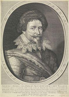 Portret van Frederik Hendrik, prins van Oranje, op 49-jarige leeftijd, Hendrick Hondius (I), 1633