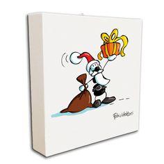 """Tela """"Babbo Natale""""   Le Formiche di Fabio Vettori #natale #babbonatale #xmas #regalo #formiche #ant #Christmas #gift"""