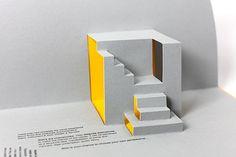 """Pop up staircase 2 by Margot Lombaert Kirigami Patterns, Kirigami Templates, Kirigami Tutorial, Arte Pop Up, Pop Up Karten, Paper Architecture, Paper Crafts Origami, Ceramic Teapots, Card Tutorials"