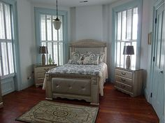 1870s Second Empire - blue bedroom