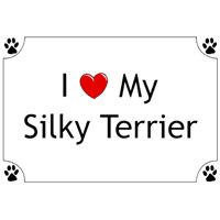 Silky Terrier T-Shirt - I love my: Nothing beats the exceptional look and quality of our Silky… #PetProducts #PetGifts #AnimalJewelry