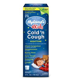 Hyland's 4 Kids Cold 'n Cough Nighttime | Hyland's Homeopathic